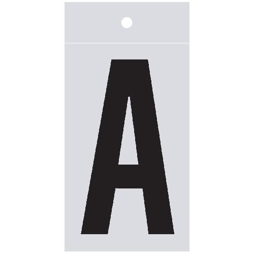 "Reflective Letter - A - 1"" - Black"