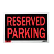 """Reserved Parking"" Sign - 8"" x 12"""