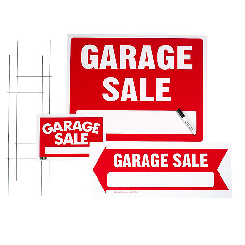 Garage Sale 3-Sign Kit