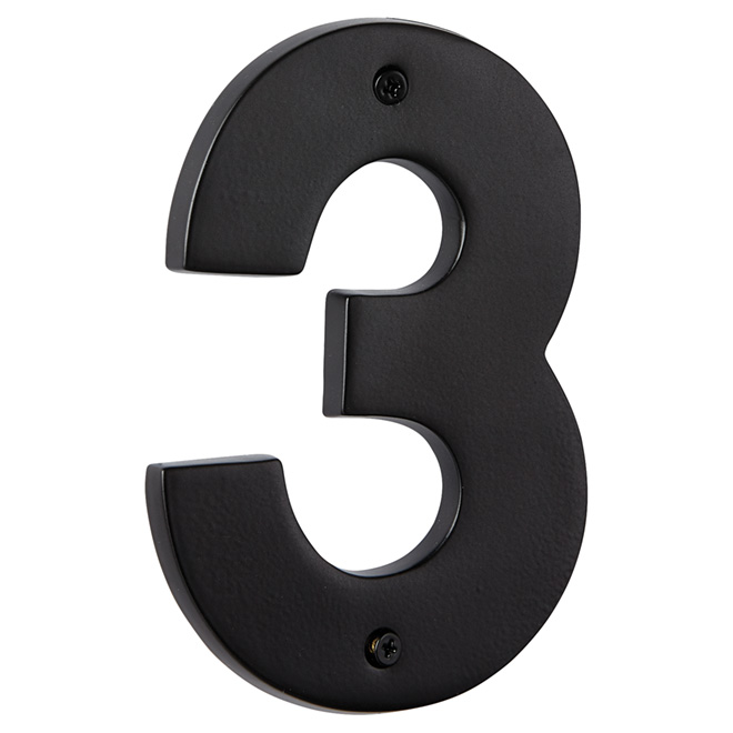 "Modern House Number - Satin Black - 5"" - (3)"