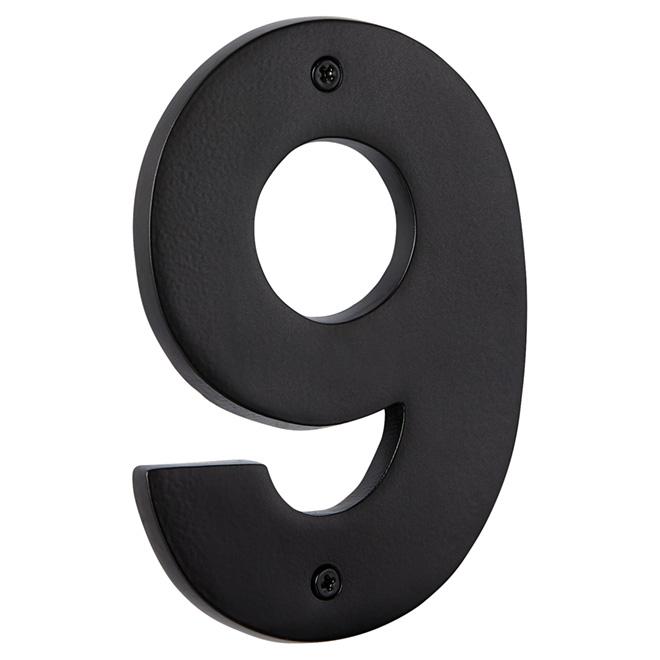 "Modern House Number - Satin Black - 5"" - (9)"