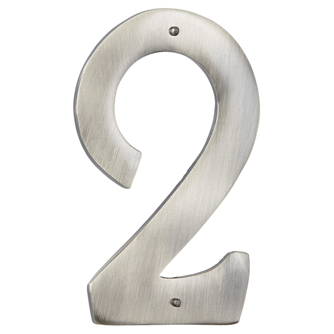 "Modern House Number - Antique Nickel - 3 1/2"" - (2)"