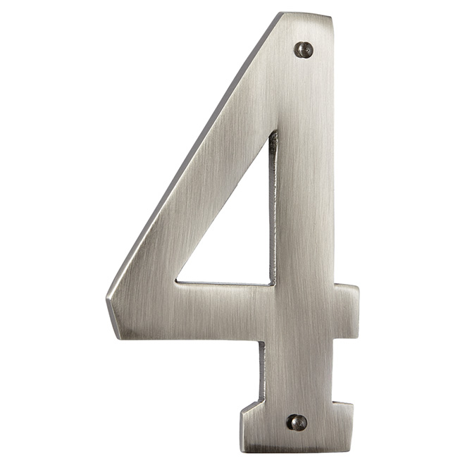 "Modern House Number - Antique Nickel - 3 1/2"" - (4)"