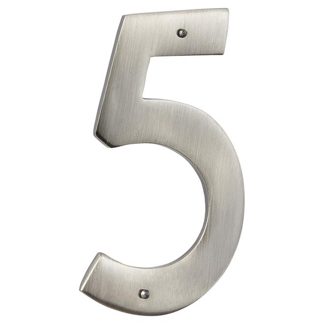 "Modern House Number - Antique Nickel - 3 1/2"" - (5)"