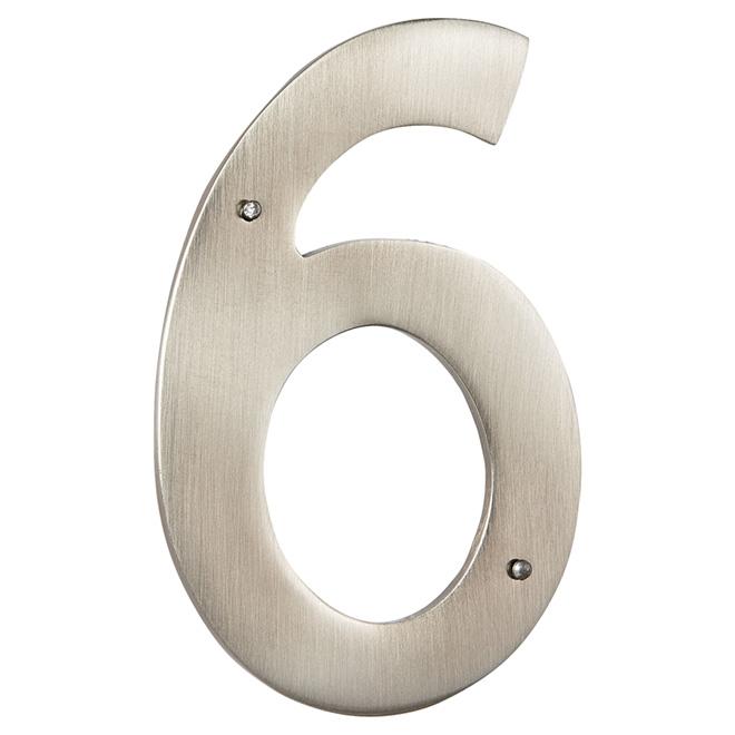 "Modern House Number - Antique Nickel - 3 1/2"" - (6)"