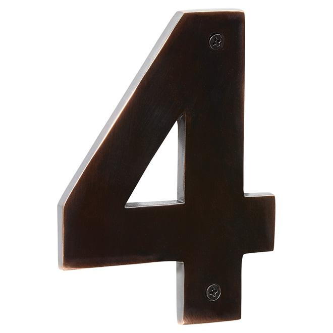 "Modern House Number - Bronze Oil - 5"" - (4)"