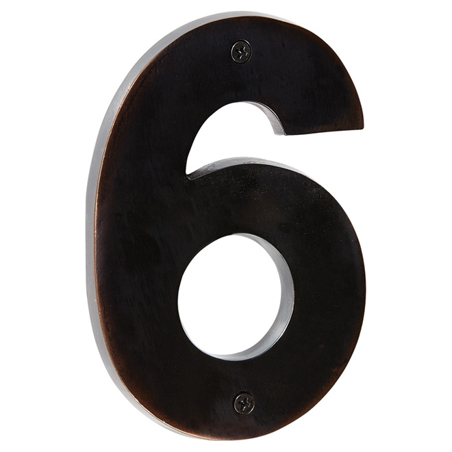 "Modern House Number - Bronze Oil - 5"" - (6)"