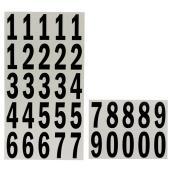 """Numéros de maison autocollants, 2"""", noir et blanc"""