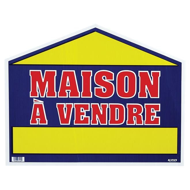 """""""Maison à vendre"""" Plastic Sign"""