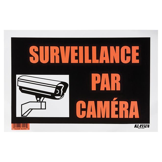 Écriteau en polystyrène «Surveillance par caméra»
