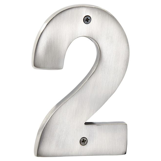 "Modern House Number - Antique Nickel - 5"" - (2)"