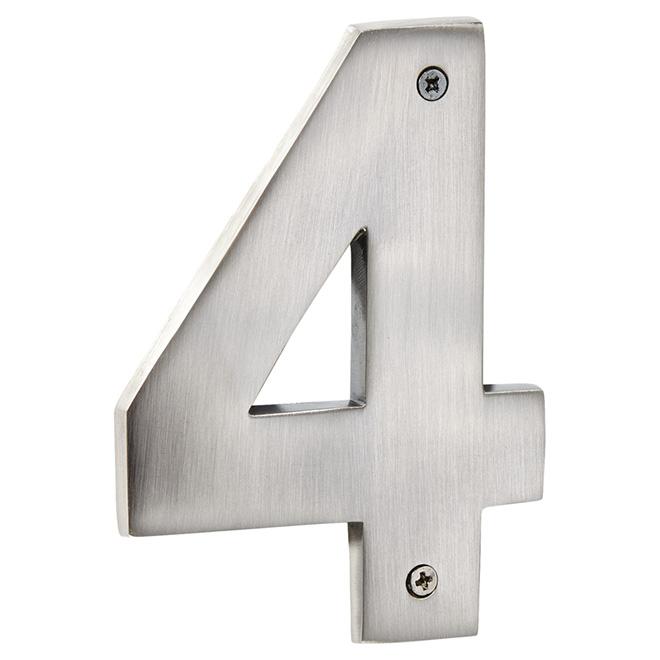 "Modern House Number - Antique Nickel - 5"" - (4)"
