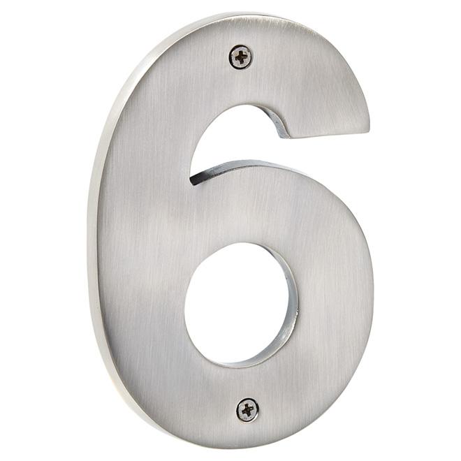 """Numéro de maison moderne, nickel antique, 5"""", -6-"""