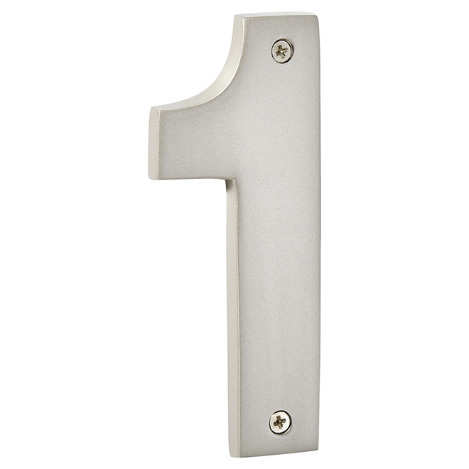 """Modern House Number - Pewter - 5"""" - (1)"""