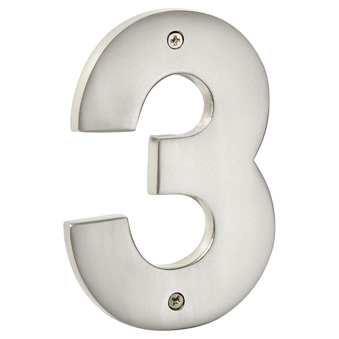 """Modern House Number - Pewter - 5"""" - (3)"""