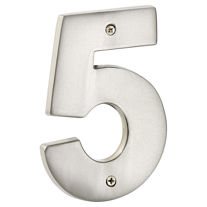 "Modern House Number - Pewter - 5"" - (5)"