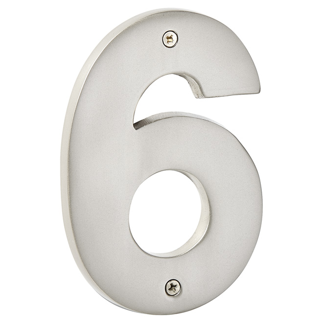 """Modern House Number - Pewter - 5"""" - (6)"""