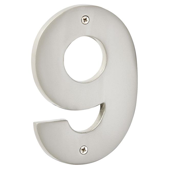 """Numéro de maison moderne, étain, 5"""", -9-"""