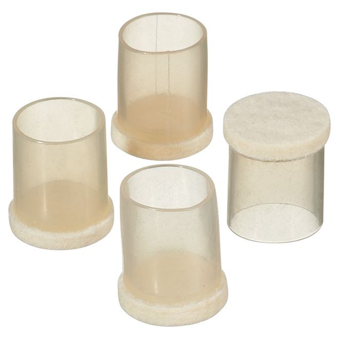 "Fused-Felt Plastic Leg Tips - Round - 3/4"" - 4-Pack"