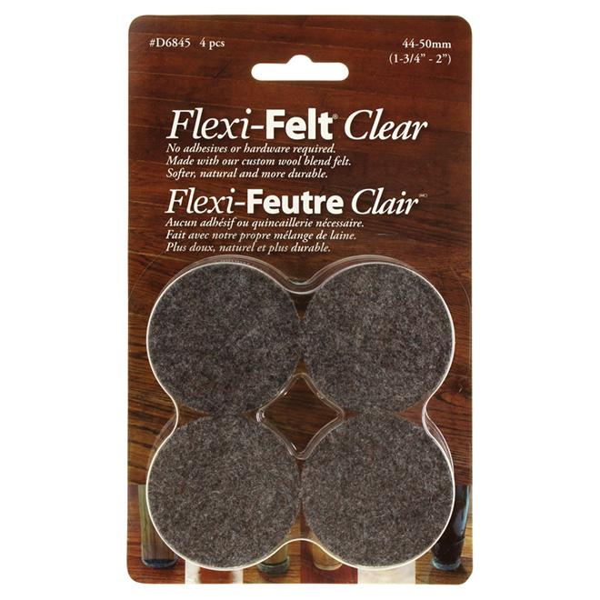 "Fused-Felt Plastic Leg Tips - 1 3/4"" - 4PK - Brown"