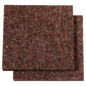 "Industrial strength Felt Pads - Square - 3"" - 2PK - Brown"