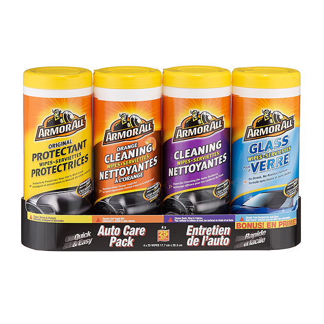 Car Cleaning Wipes - 4-Pack