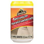 Carpet and Upholstery Wipes, 12-Pack