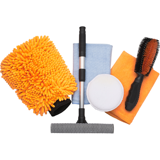 Car Cleaning Kit - 6 Pieces