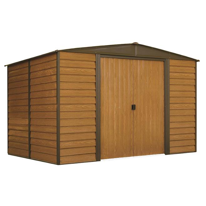 Woodbridge Steel Garden Shed - 10' x 8' - Simili Wood