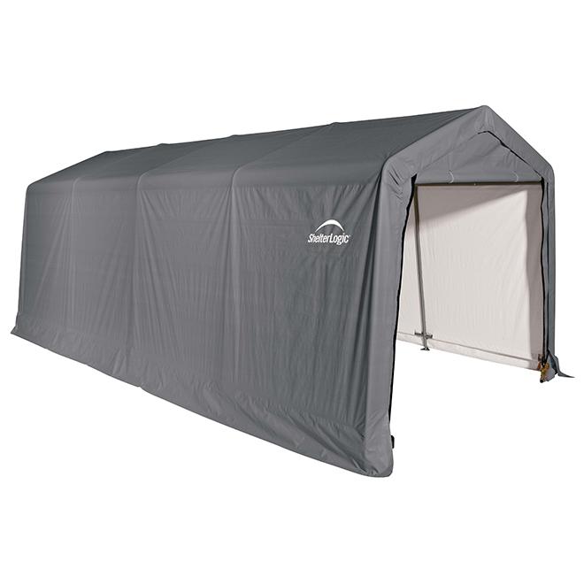 Abri d'auto Shelterlogic, 10' x 20' x 8', gris
