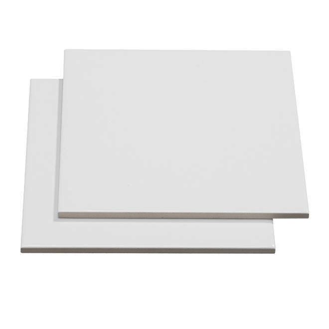 "Ceramic wall tile - Gloss White - 6""x6"""