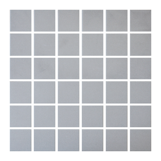 "Ceramic Tiles - Mosaic - 12"" x 12"" - 25/box - Light Grey"