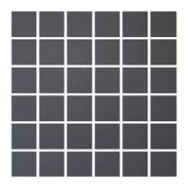 "Ceramic Tiles - Mosaic - 12"" x 12"" - 25/box - Dark Grey"