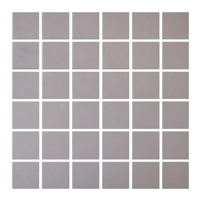 "Ceramic Tiles - Mosaic - 12"" x 12"" - 25/box - Dark Taupe"