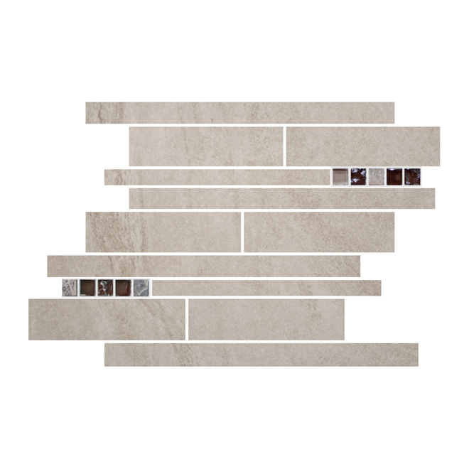 Mosaic wall and floor tiles