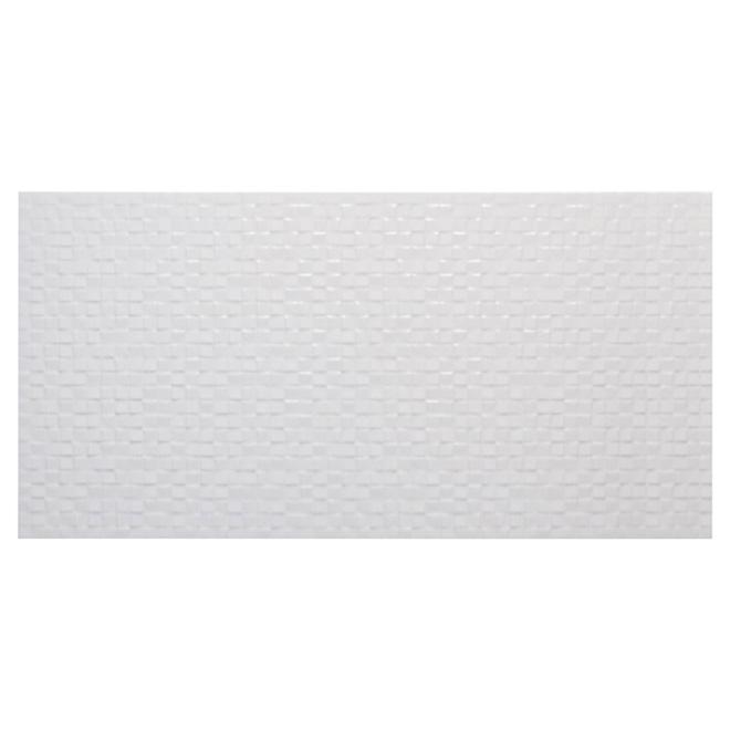 Carreaux de céramique pour mur «Tessara», 10 x 20 po, blanc