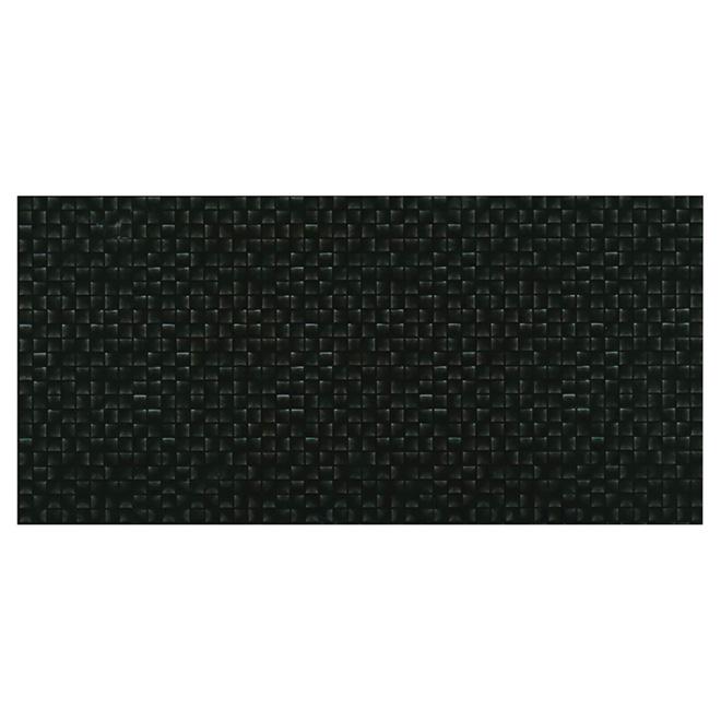 "Ceramic Wall Tiles - 10"" x 20"" - Black - 12/box"