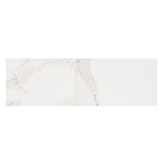 "Tuiles de porcelaine Glamour, 4"" x 11,8"", 31/bte, calacatta"