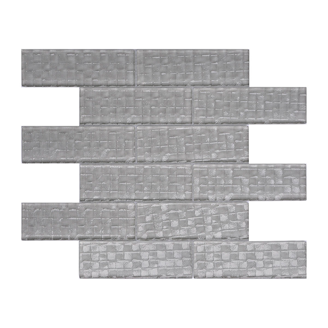 "Mosaic Tiles - 12"" x 12"" - 11/Box - Light Grey"