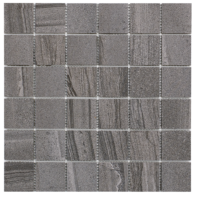 """Paros 2x2"" Porcelain Tile - 30 x 30 cm - Dark Grey - 4/box"