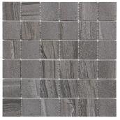 Tuile de porcelaine «Paros 2x2», 30 x 30 cm, gris foncé, 4/bte