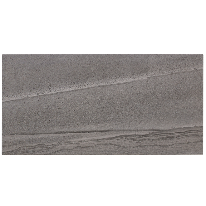"""Paros"" Porcelain Tile - 30 x 60 cm - Dark Grey - 9/box"
