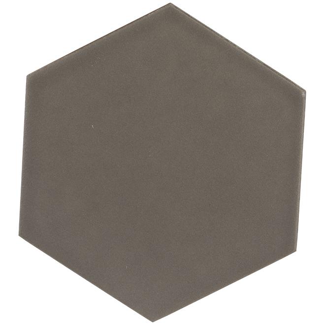 "Hexagon Ceramic Tiles - 6"" x 7"" - Matte Grey"