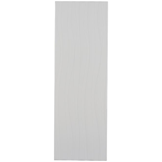 """Tuile de céramique, 8"""" x 24"""", 12/boîte, blanc lustré, 15,54 pi²"""