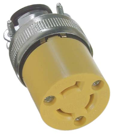 Eagalok Connector - 2 Outlets and 3 Wires - 15 A - Yellow