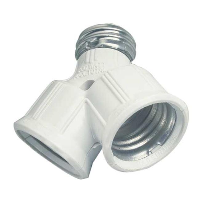 Adaptateur de douilles polarisées par Eaton, thermoplastique, culot moyen, 250 V, 660 W