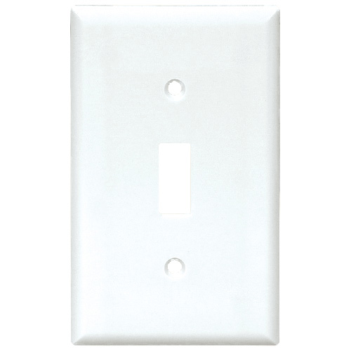 Standard Switch Plate - 1-Gang - White