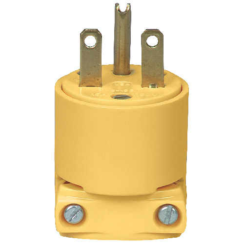 Two-Pole Plug - 3 Wires - 15A - NEMA6-15P - Yellow