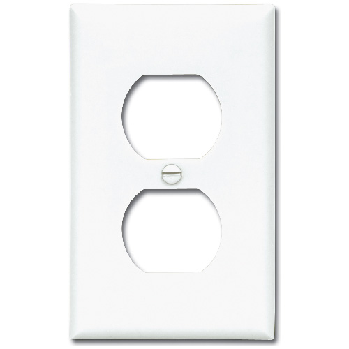 Receptacle Plate - White