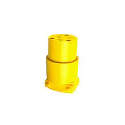 2-pole plug - 3 wire grounding - 20A - Yellow